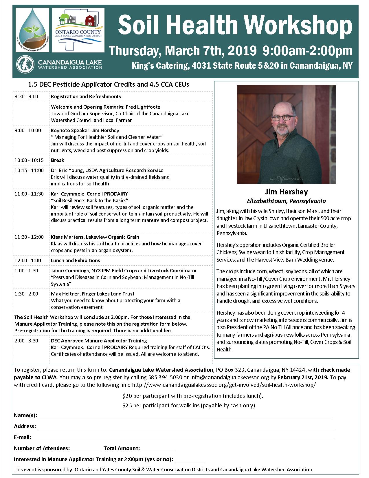 Soil Health Workshop Flyer 2019