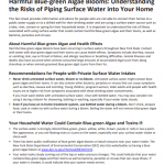 HABs: Understanding the Risks of Piping Surface Water into Your Home.